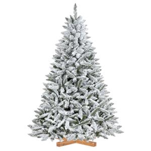 Árbol de Navidad artificial Picea flocado con copos de nieve