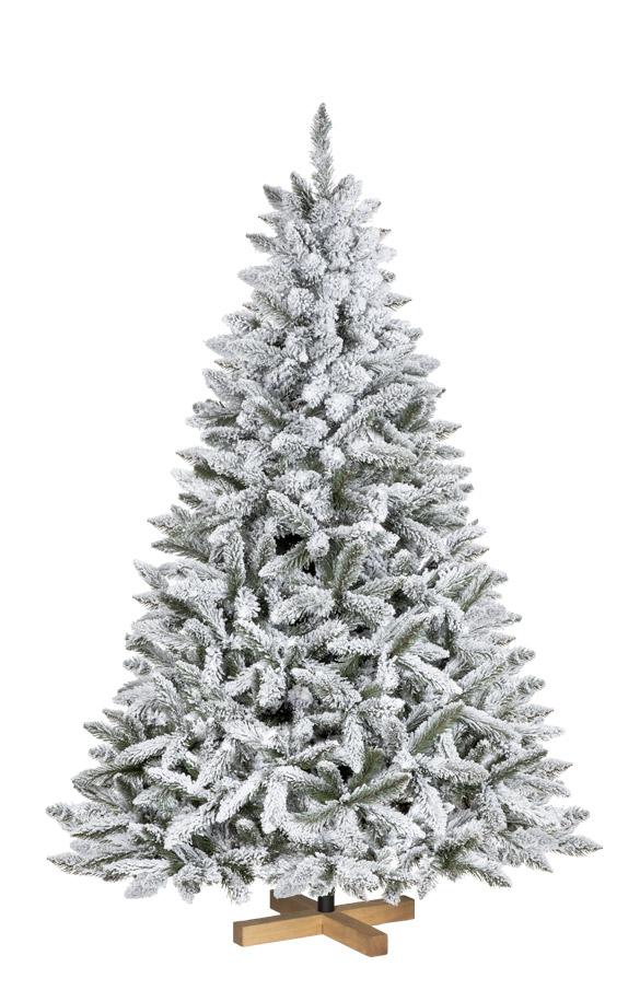 Rbol de navidad artificial picea flocado con copos de - Arbol artificial de navidad ...