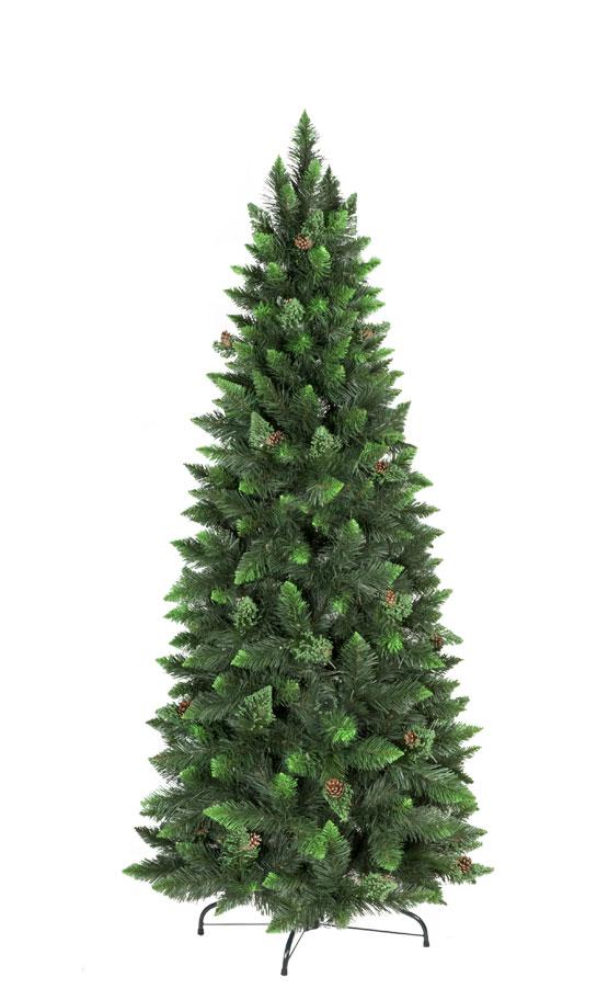 Rbol de navidad artificial pino natural verde slim - Arbol artificial de navidad ...