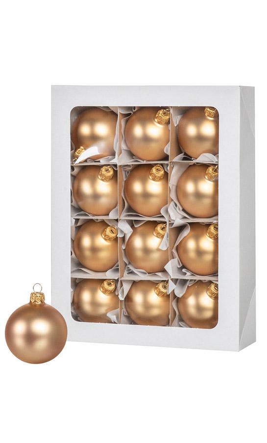 Las bolas de Navidad de color oro 12 piezas 6 cm