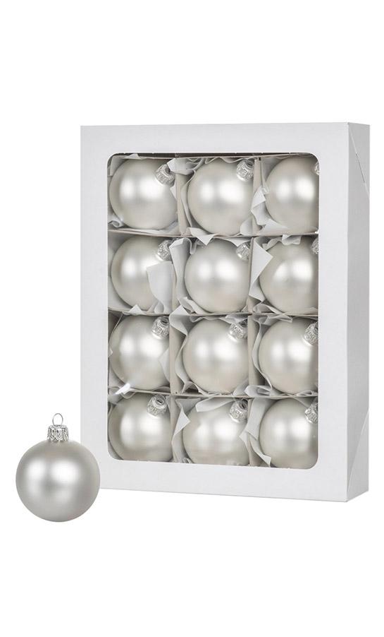 Las bolas de Navidad de color plata 24 piezas 6 cm - FairyTrees